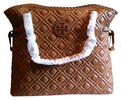 Tory Burch Marion Quilted Slouchy Tote Tiger S Eye 17 Off