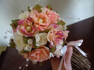 Roses ~ Twigs ~ Pearls ~ Bridal Bouquet