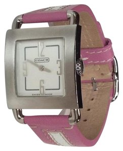 Coach COACH Silver w/ Pink Leather Band Ladies Watch