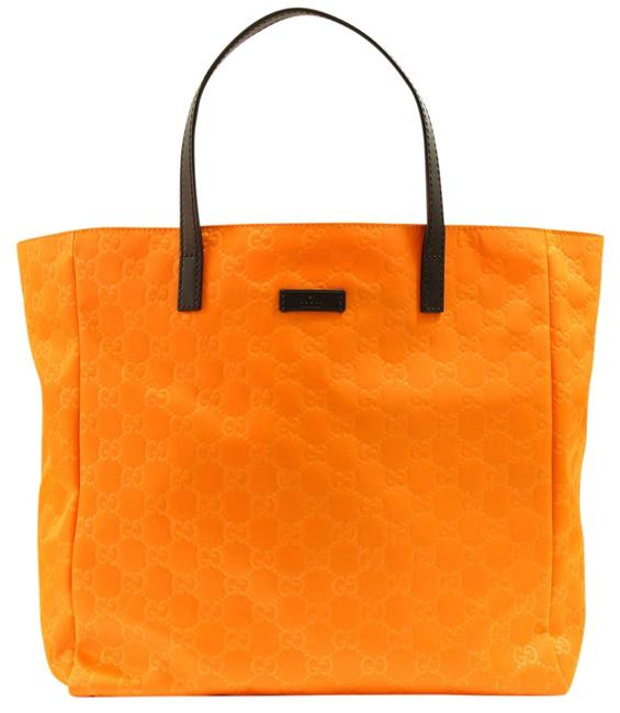 Item - Bag 282439 Gg ssima Medium Orange Nylon Tote