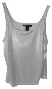 Yansi Fugel Shimmer Metallic Top Silver