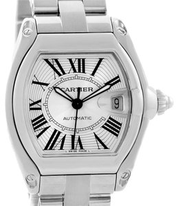 Cartier Cartier Roadster Mens Stainless Steel Silver Dial Watch W62025V3