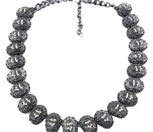 Other New Crystal Necklace in Gunmetal Bling Galore