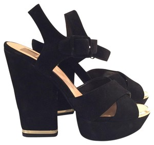 Dolce Vita Black/gold Sandals
