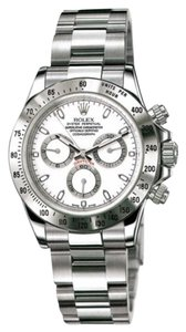 Rolex Rolex New Style Pre Owned Daytona Steel White Dial 40mm