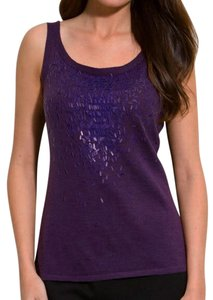 Eileen Fisher Sparkle Purple Top Lingonberry
