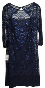 Monique Lhuillier Lhullier 3/4 Sleeves Dress