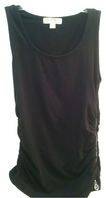 Item - Black with Silver Zipper Tank Top/Cami Size 4 (S)