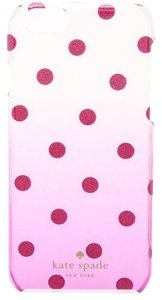 Kate Spade KATE SPADE Pink Glitter Dot Clear Ombre Resin Phone Case For Iphone 6