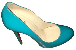 Christian Louboutin Patent Leather Blue Pumps