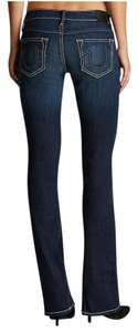 True Religion Women's Designer Boot Cut Jeans-Dark Rinse