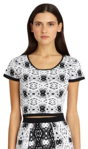 Parker Crop Top Black & White
