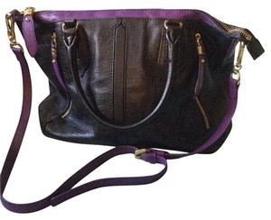 orYANY Tote in Black with purple trim
