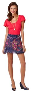 Lilly Pulitzer Mini Skirt Navy multicolored