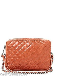 Rebecca Minkoff Flirty Quilted Leather Chain Strap In Luggage Cross Body Bag