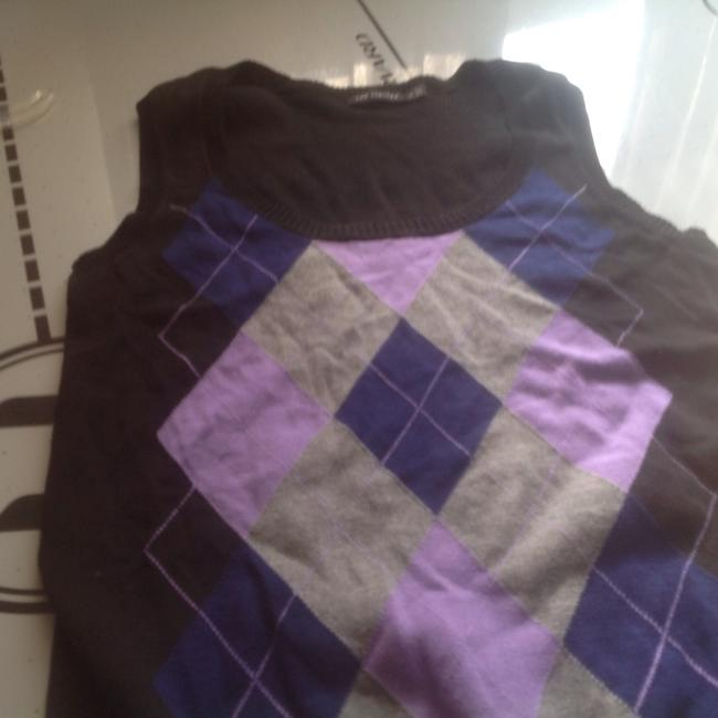 The Limited Vest Purple And Pinks Like New Sweater