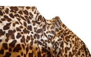 Jones New York Button Down Shirt Leopard