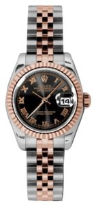 Rolex Rolex Datejust Steel and Rose Gold Black Roman Dial 26mm