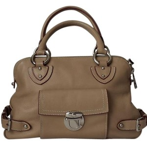 Marc Jacobs Leather Suede Satchel in Taupe