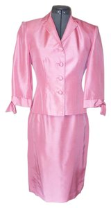 Maggy London Pink SILK Skirt Suit