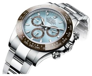 Rolex Rolex New Style Pre Owned Daytona Platinum Ice Blue Dial 40mm