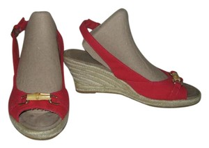 Coldwater Creek Wedge Espadrille red Wedges