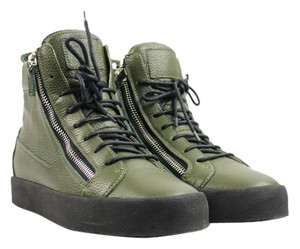 Giuseppe Zanotti Rm5057 London Olive Green Black Athletic
