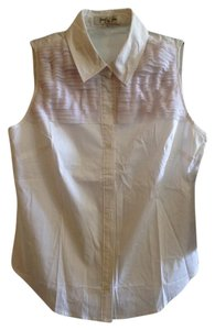 Jennifer & Grace Boho Bohemian Ruffly Spring Button Down Shirt White Pastel Purple Violet