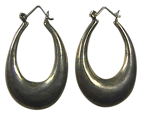 Vintage Vintage Sterling Silver - 3D Crescent Hoop Earrings 10.3 grams