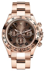 Rolex Rolex New Style Pre Owned Daytona Rose Gold Chocolate Dial 40mm