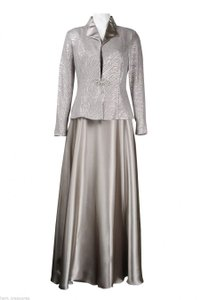 123157828fe Cachet Mocha Silver Satin Polyester) 55537 Formal Bridesmaid Mob Dress Size  16 (XL