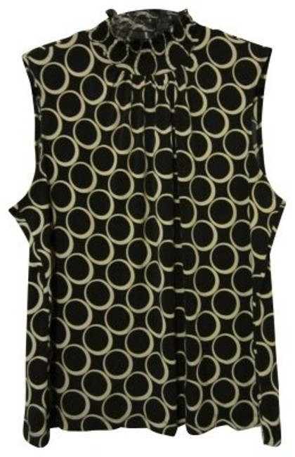 Preload https://item3.tradesy.com/images/black-and-tan-modern-circle-print-sleeveless-tank-topcami-size-16-xl-plus-0x-16557-0-0.jpg?width=400&height=650