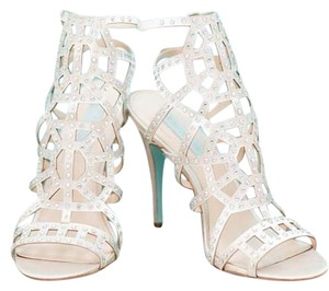 Betsey Johnson Satin Sandal Champagne Formal