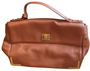 Badgley Mischka Leather Satchel in CAMEL
