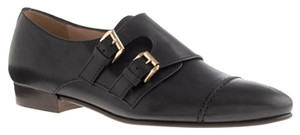 J.Crew Monk Strap Oxfords Navy Flats