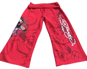 Ed Hardy Capris Red