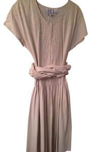 Creamy tan Maxi Dress by Spiegel Detail Stitching