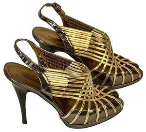 Roberto Cavalli brown / gold Pumps