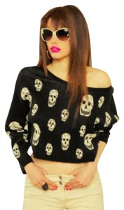 Betsey Johnson Skull Goth Sweater
