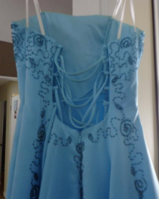 Cache Robin Egg Prom Gown Beaded Dress