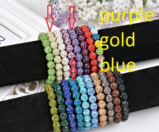 unknown new shamballa disco ball bead blue bracelet link chain cuff mother daughter holiday gift bff crystal
