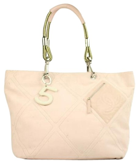 Chanel Quilted Baby No 5 Neverfull Tote in Pink