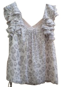 Rebecca Taylor Top CREAM & LIGHT GRAY