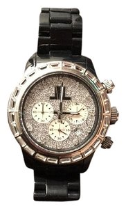 ToyWatch Toywatch Black Watch with crystal studded face