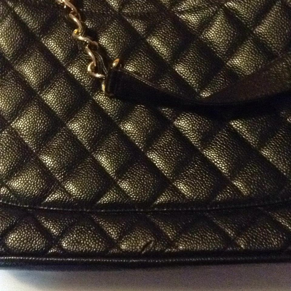 216c2713e36bc0 Chanel Bag Grand Shopping Gst Quilted Gold Hardware Ghw Classic Timeless  Black Caviar Leather Tote - Tradesy