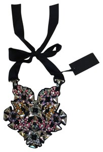 Vera Wang Vera Wang Embellished Hand beaded Bib Necklace