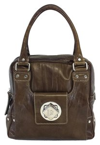 Etro Brown Box Shaped Leather Satchel