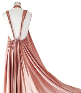 Maxi Dress by Riller & Fount Flowy Open Back Plunge Tie