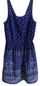 Divided by H&M short dress Blue Patterned Keyhole on Tradesy