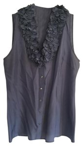 Ann Taylor Womens Sleeveless Top Periwinkle